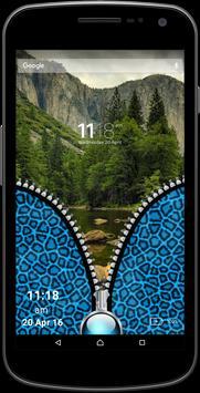 Leopard Fur Blue Zipper Screen apk screenshot