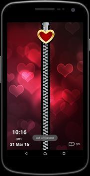 Love Zipper Screen poster