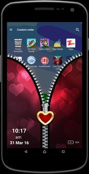 Love Zipper Screen apk screenshot
