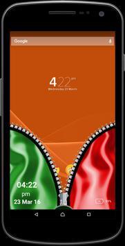 PTI Flag Zipper Screen apk screenshot