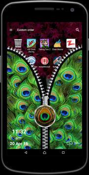 Peacock Art Zipper Screen apk screenshot
