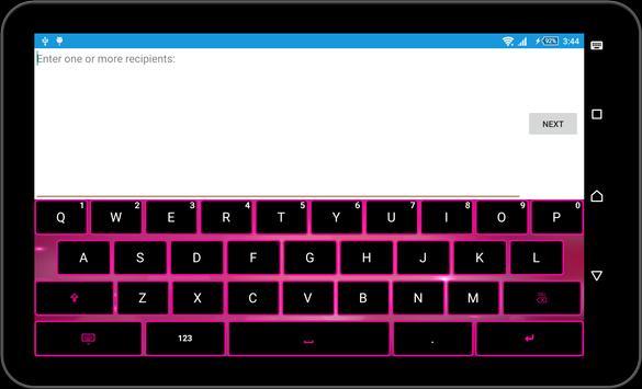 Pink Black Keyboard Theme apk screenshot