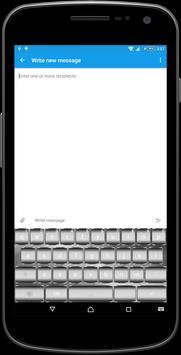 Silver Metal Keyboard Theme poster