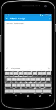 Silver Metal Keyboard Theme apk screenshot