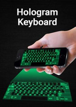 Hologram keyboard 3D Simulator poster