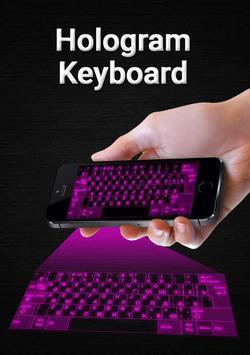 Hologram keyboard 3D Simulator apk screenshot