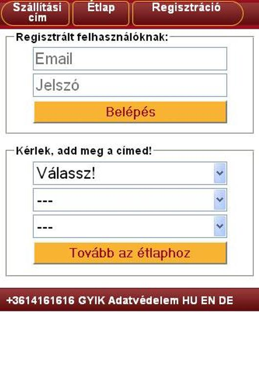 d64b2c1f1a Pizza 16 online rendelés for Android - APK Download