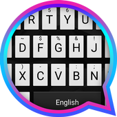 Piano Black Theme&Emoji Keyboard icon