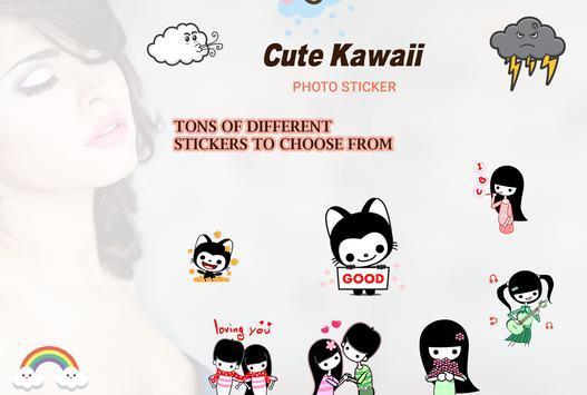 Cute Kawaii Photo Sticker poster
