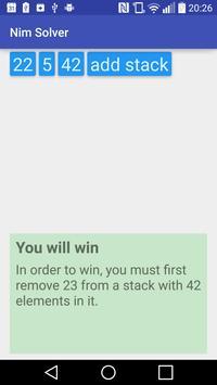 Nim solver screenshot 1