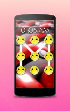Pattern lock for Poke pikacho apk screenshot