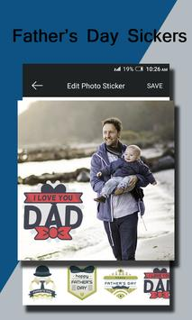 Fathers Day Photo Sticker poster
