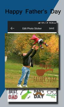 Fathers Day Photo Sticker screenshot 1