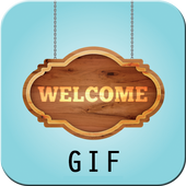 Welcome GIF icon
