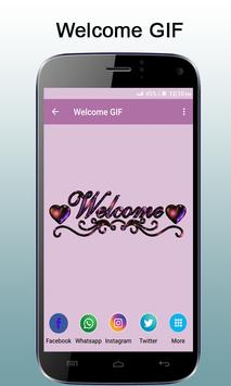 Welcome GIF apk screenshot