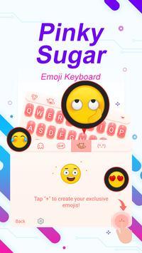 Pinky Sugar Theme&Emoji Keyboard apk screenshot
