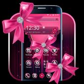 Pink Bow Diamond Love Theme icon