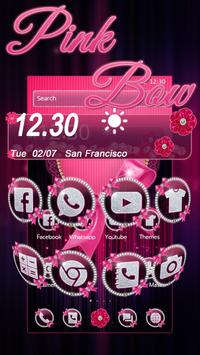 Pink Bow Diamond Love Theme apk screenshot