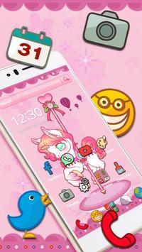 Cute Carrousel Unicorn Theme apk screenshot