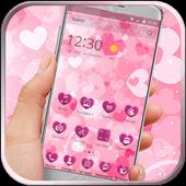 pink cute heart love icon