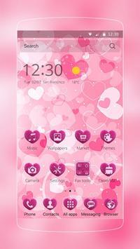 pink cute heart love poster