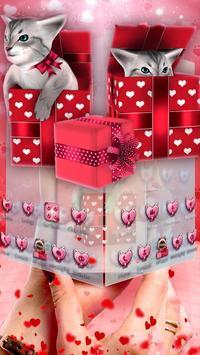3D Cute Kitty Gift Theme screenshot 1