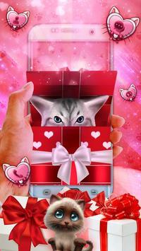 3D Cute Kitty Gift Theme screenshot 2
