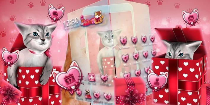 3D Cute Kitty Gift Theme screenshot 3