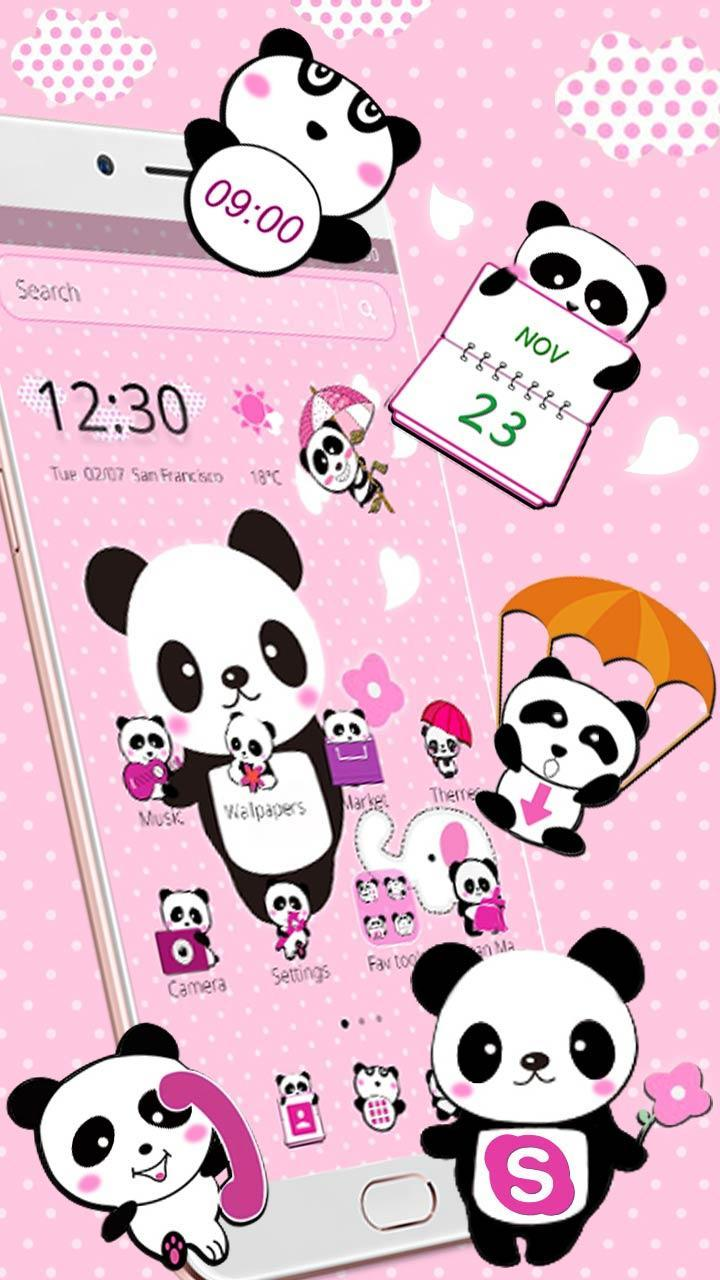 Tema Panda Indah Pink For Android APK Download
