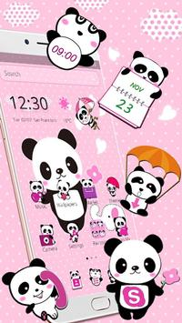 Pink Lovely Panda Theme apk screenshot