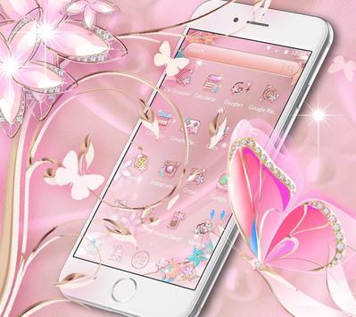 Rose Gold Butterfly screenshot 1