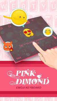 Pink Diamond Theme&Emoji Keyboard apk screenshot