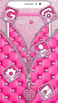Pink Diamond Zipper poster