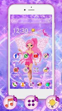 Pink Fairy Glitter Theme poster