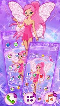 Pink Fairy Glitter Theme apk screenshot