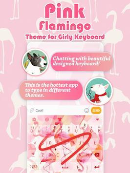 Pink Flamingo Keyboard Theme for Girls poster