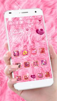 Pink Heart Fur Theme poster
