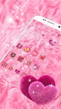 Pink Heart Fur Theme screenshot 1