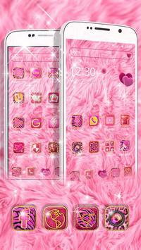 Pink Heart Fur Theme screenshot 2