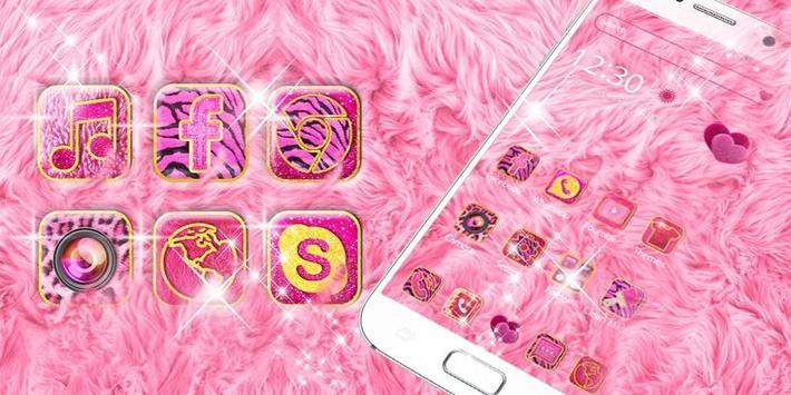 Pink Heart Fur Theme screenshot 3