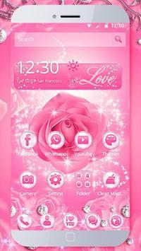 Diamond Pink Rose Theme poster