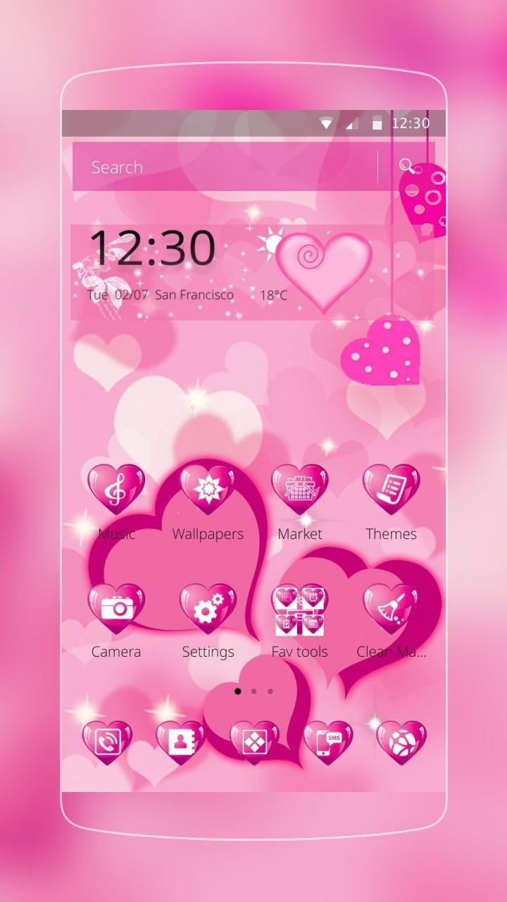 Pink Heart Love Theme for Android - APK Download