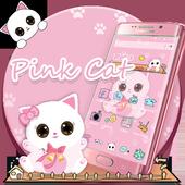 Pink Kitty Cartoon Theme icon
