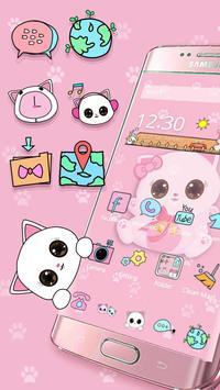 Pink Kitty Cartoon Theme poster