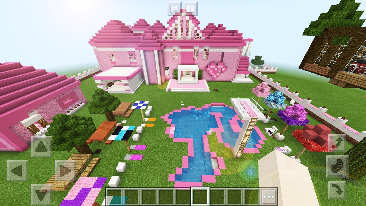 minecraft pink games supermansion mcpe apk