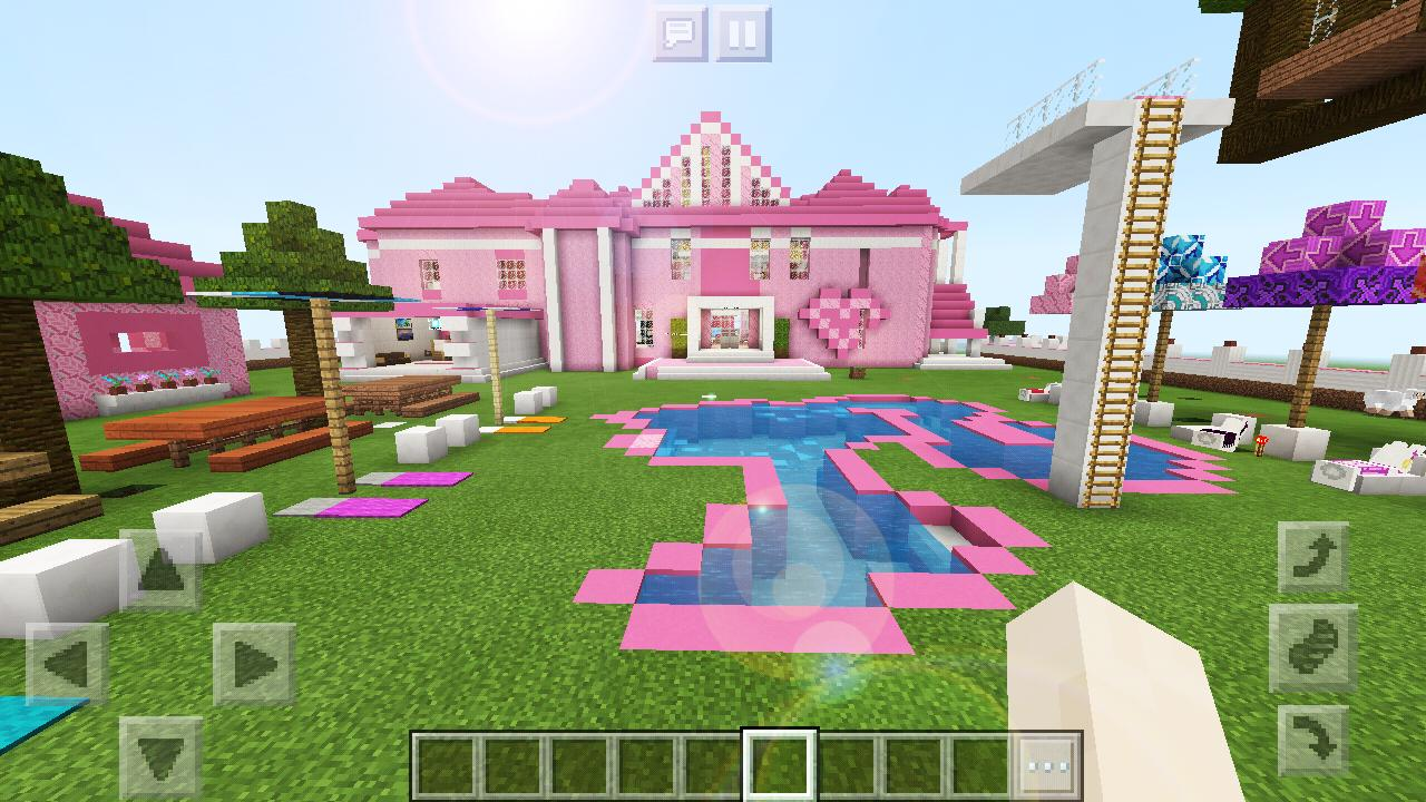 Pink House Minecraft Supermansion Girl Games Free For Android Apk Download