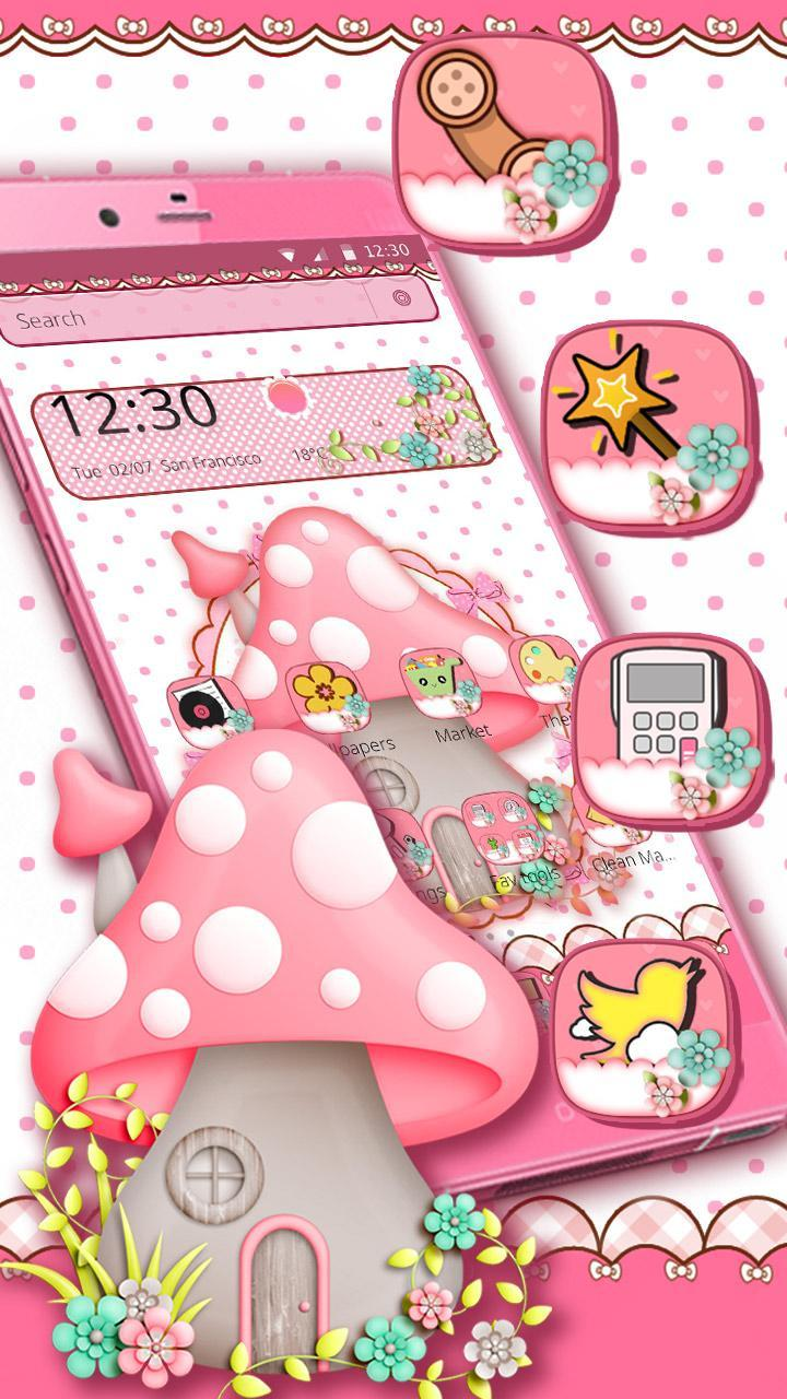 Tema Jamur Pink Lucu For Android APK Download
