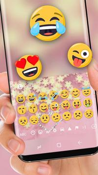 Pink Golden Heart Luxury Keyboard Theme screenshot 1