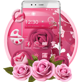 Pink Rose Mobile Theme icon
