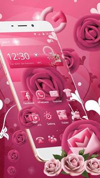 Pink Rose Mobile Theme apk screenshot